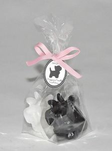 Demeure et Jardin - deux petites bougies chiens scottish - Decorative Candle