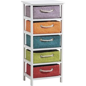 Aubry-Gaspard - commode 5 tiroirs couleurs - Storage Tower