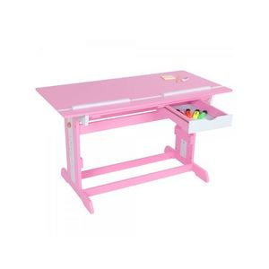 WHITE LABEL - bureau enfant meuble chambre rose - Children's Desk