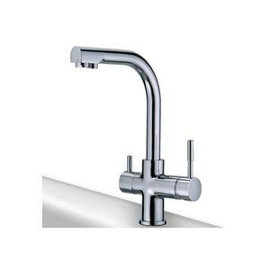 WHITE LABEL - robinet cuisine rotatif 3 voies mitigeur - Kitchen Mixer Tap