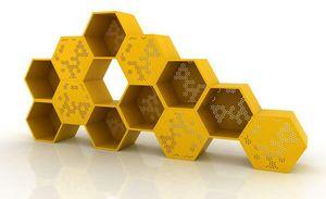 DARENART - ruche - Open Bookcase