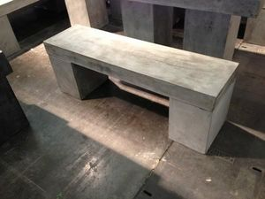Mathi Design - banc beton massif 130 - Bench
