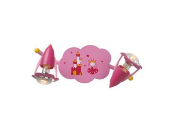 LUCIDE - applique enfant pinky 2 lampes - Children's Bedside Light