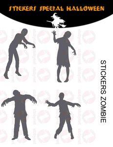 WHITE LABEL - sticker zombies halloween - Sticker