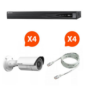 CFP SECURITE - video surveillance - pack nvr 4 caméras vision noc - Security Camera