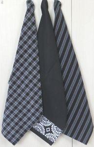 ITI  - Indian Textile Innovation - check stripe print - Tea Towel