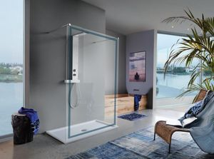 Samo - open cornice - Shower Screen Panel