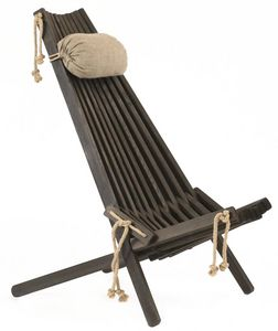 ECOFURN - chilienne en bois ecochair (coussin offert) - Deck Chair