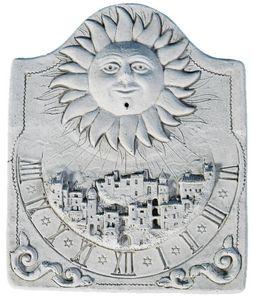 DECO GRANIT - cadran solaire le village en pierre reconstituée - Sundial