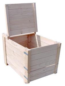 Sauvegarde58 - composteur 350 litres en pin traité 75x72x82cm - Compost Bin
