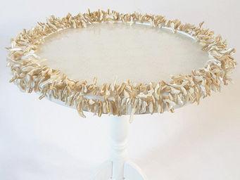 RELOADED DESIGN - mini table verso sud mother of pearl - medium - Pedestal Table