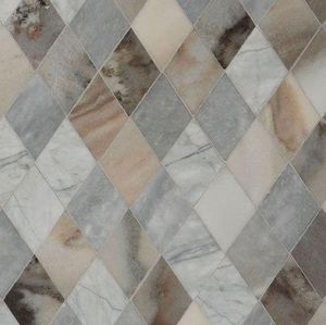 Lapicida - argyle mosaic grey - Wall Covering