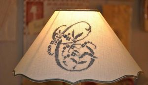 Abat-jour - festonné lin - Cone Shaped Lampshade