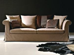 WHITE LABEL - canapé 3 places en tissu dalia - 3 Seater Sofa
