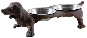 Aubry-Gaspard - double gamelle chien en fonte - Pet Dish