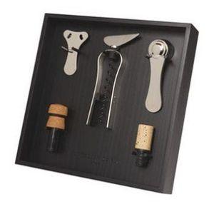 L'ATELIER DU VIN - le râtelier à outils du vin - noir - Wine Set Box