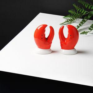 &klevering - lobster salt&pepper - Saltcellar And Pepperpot