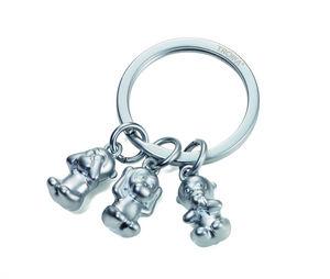 Troika - three monkeys - Key Ring