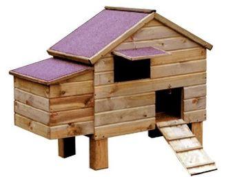 CEMONJARDIN - poulailler bois 6/8 poules - Hen House