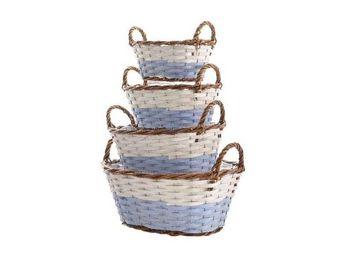 Kaemingk - panier osier oval avec anse - Storage Basket