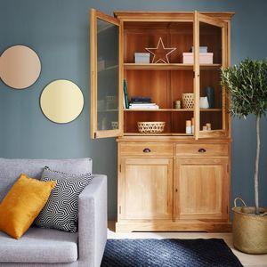 BOIS DESSUS BOIS DESSOUS - vaisselier en bois de teck 2 portes boston - China Cabinet