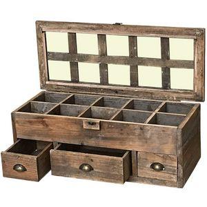 CHEMIN DE CAMPAGNE - grande boîte coffre cofrret de rangement à thé en  - Tea Box