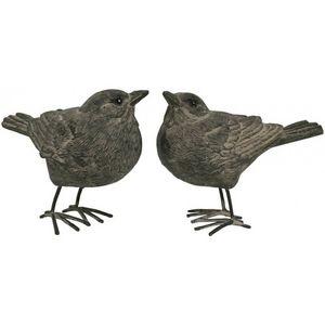 CHEMIN DE CAMPAGNE - 2 statues sculptures oiseau oiseaux de décoration  - Figurine