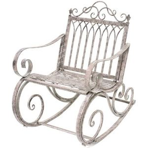 CHEMIN DE CAMPAGNE - fauteuil banc rocking chair en fer de jardin 95 cm - Rocking Chair