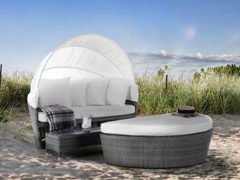 BELIANI - lit de jardin avec capote - Garden Furniture Set