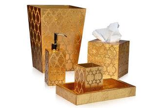 Mike + Ally - arabesque gold - Bathroom Dustbin