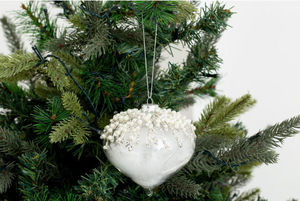 Flamant - wei - Christmas Bauble