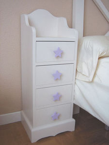 GRIS ALBA DECORACION - mesilla 4 cajones sena - Children's Bedside Table
