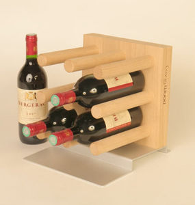 Cav in Wood - fakir-solo - Wine Bottle Tote