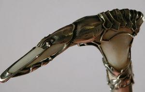 Boccador Jacqueline Et Fils - canne en nacre recouvert d'un homard - Walking Stick