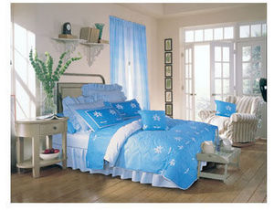 Husch - cyan - Bed Linen Set