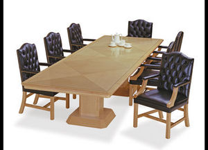 Le-Al Executive Furniture - column base table in birdeye maple - Conference Table
