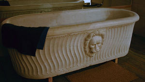 Drummonds Architectural Antiques - marble bath - Freestanding Bathtub With Feet