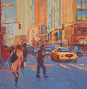 Modern Artists Gallery - anita austwick heading to work new york - Oil On Canvas And Oil On Panel