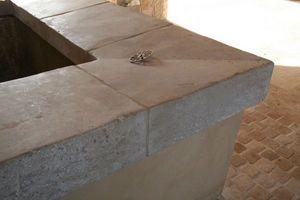 Occitanie Pierres - angle de margelle épaisse auberoche antique - Pool Border Tile