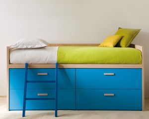 DEARKIDS -  - Bed With Drawers