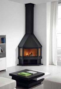 ROCAL - estela - Corner Fireplace With Door