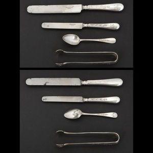Expertissim - christofle. partie de ménagère en métal argenté - Cutlery Set
