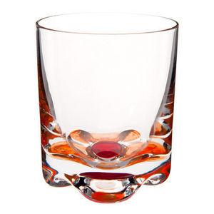 Maisons du monde - gobelet flower orange-rouge - Whisky Glass