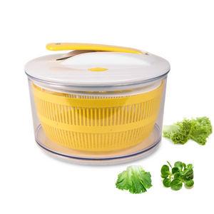 WHITE LABEL - essoreuse à salade à piston - Salad Spinner