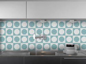 DEMOUR & DEMOUR Mosaïques - pions m00402 - Mosaic Tile Wall
