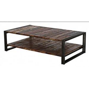 DECO PRIVE - réf : sam-tbr120/2p - Rectangular Coffee Table