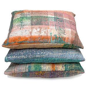 VAN VERRE - sari kantha - Cushion Cover