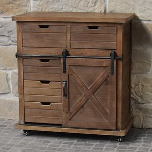CHEMIN DE CAMPAGNE - meuble bahut buffet semainier style industriel cam - Low Chest