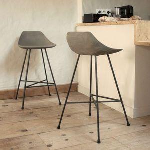 LYON BÉTON - tabouret de bar beton - Bar Chair