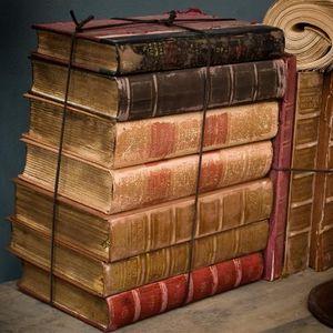 Objet de Curiosite - livres petite reliure vieillie lôt 1 mètre - Old Book